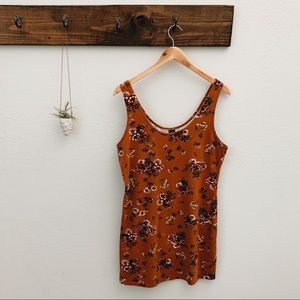 Wild Fable Target Brown Floral Dress L